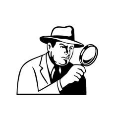 Detective inspector private eye or investigator vector