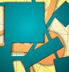 Digital geometric lines green color vector image