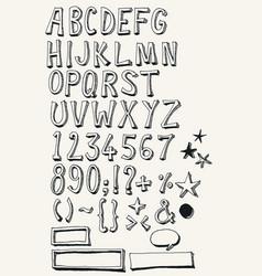 Doodle complete alphabet set vector