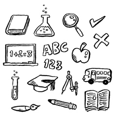 Doodle series - education vector
