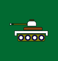 Flat icon design collection army tank vector