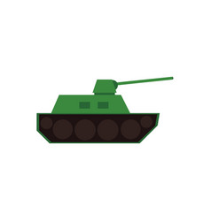 flat icon of green toy tank armored vector image