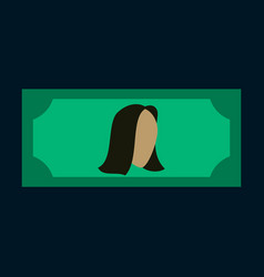 Flat icon on stylish background currency cash vector
