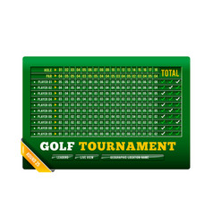 golf scoreboard with ball vector image
