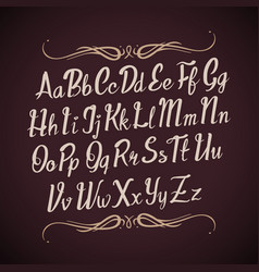 Hand drawn alphabet letters handwritten vector