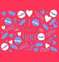 hand drawn calligraphy text i love you vector image