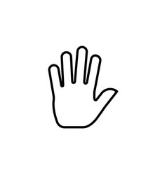 hand gesture icon design template isolated vector image