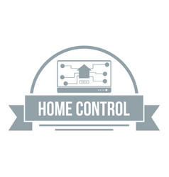 Home control logo simple gray style vector