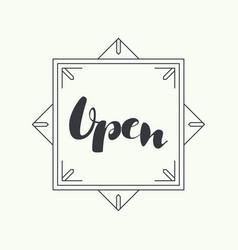 Inscription is open vector