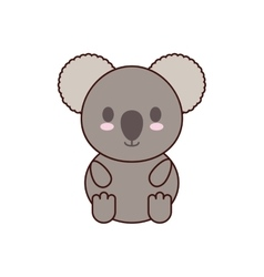Koala kawaii cute animal icon vector