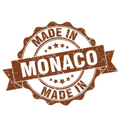 made in monaco round seal vector image