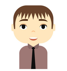 man avatar with smiling faces male cartoon vector image