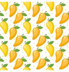 Mango seamless pattern endless background vector