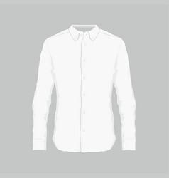 Mens white dress shirt vector