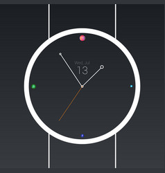 Minimal social watch vector
