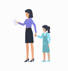 Mother with daughter icon vector
