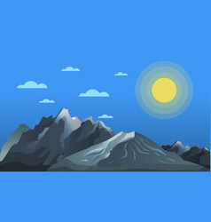 Mountaineering and alpine tourism concept vector