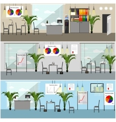 Office interior in flat style vector image