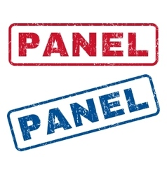 Panel Rubber Stamps vector image