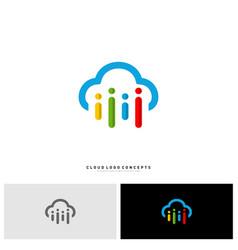 People cloud logo design concept modern cloud vector