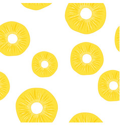 pineapple seamless pattern slice vector image