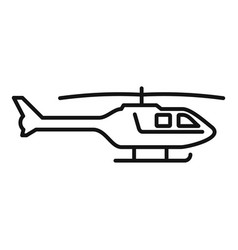 police helicopter icon outline style vector image