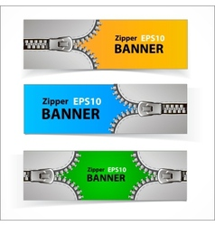 Promotional sale banners with zipper vector