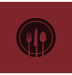 red menu vector image
