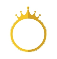 Seal stamp crown gold label banner icon vector