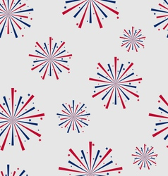 Seamless Pattern firework for Independence Day of vector image