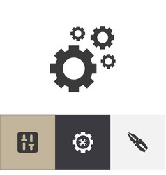 Set of 4 editable toolkit icons includes symbols vector