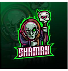 Shaman sport mascot logo design vector