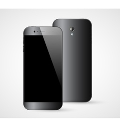 Smartphone front back view vector image