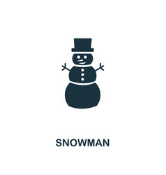snowman icon premium style design from christmas vector image