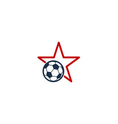 Soccer star logo icon design vector