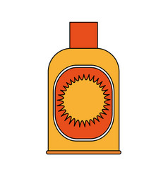 sunblock or sunscreen icon image vector image