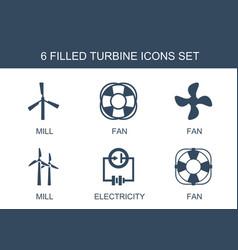 Turbine icons vector