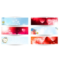 Valentines web banner set vector