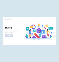 Web site design template branding digital vector