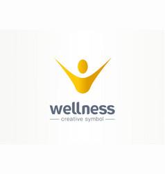 wellness happiness creative symbol concept vector image
