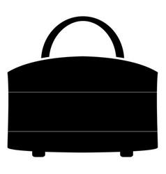 woman bag the black color icon vector image