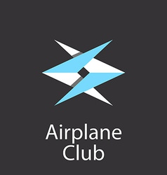 Airplane club logo emblem of airlift company vector image vector image
