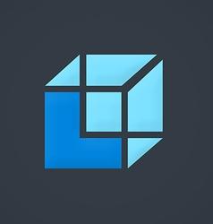 Box construction cube business logo vector