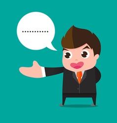 businessman welcome cartoon vector image vector image