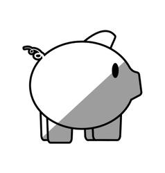 piggy save money bank shadow vector image vector image