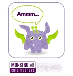 a monster saying ammm vector image vector image
