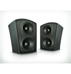Acoustic speakers in plane wooden body vector image