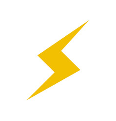 thunderbolt lightning power energy icon vector image