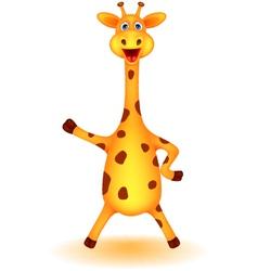 funny giraffe cartoon vector image vector image