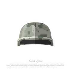 helmet of soldier military hat with camouflage vector image